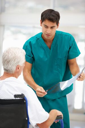 generational: Senior patient with young doctor