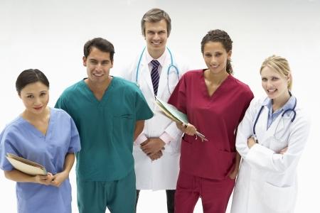 profesionistas: Grupo de profesionales de la medicina Foto de archivo