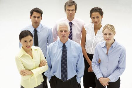 Mixed group business people photo