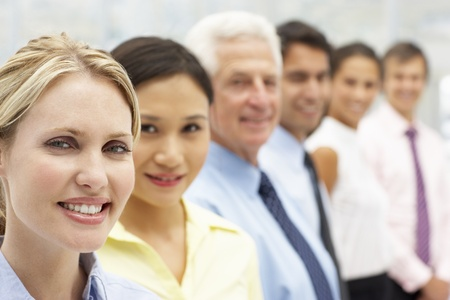 Mixed group business people Stock Photo - 11238057