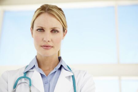 serious doctor: Female doctor