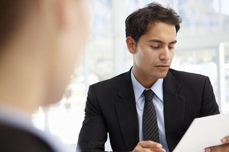 job vacancies: Job interview Stock Photo