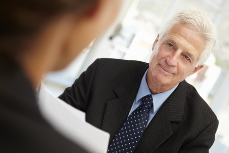 business interview: Job interview Stock Photo