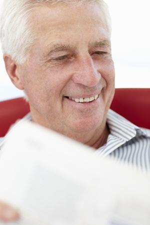 Senior man reading photo