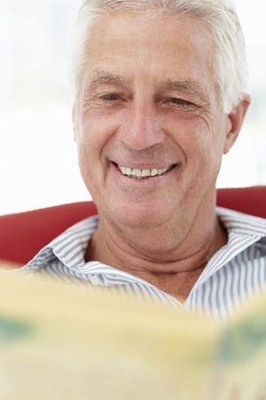 Senior man reading photo