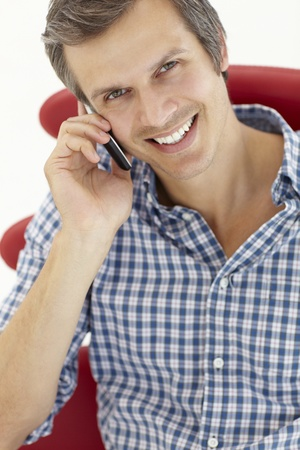 Man talking on the phone Stock Photo - 11238891