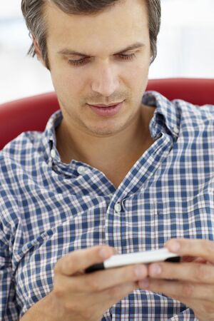 Man texting Stock Photo - 11238993