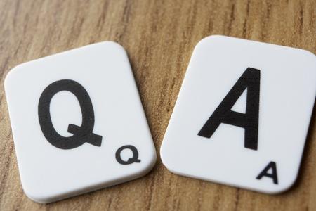 Q & ワードパズル 写真素材