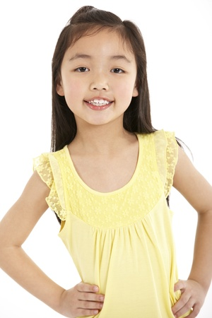 Studio Shot Of Chinese Girl photo