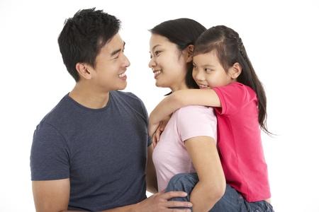 Studio Shot Of Chinese Family Stock Photo - 18709475
