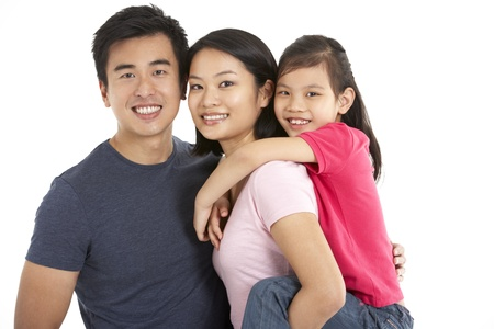 Studio Shot Of Chinese Family Stock Photo - 18709423