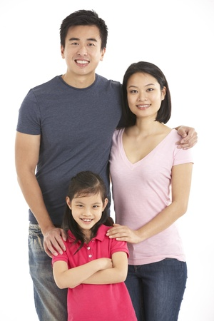 Studio Shot Of Chinese Family Stock Photo - 18709383