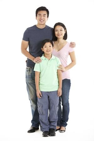 old man portrait: Full Length Studio Shot Of Chinese Family Stock Photo