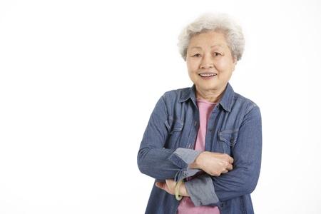 senior women: Studio Shot Of Chinese Senior Woman