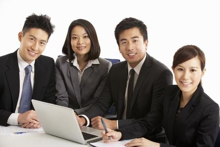 cerrando negocio: Foto de estudio de empresarios chinos que habían Reunión
