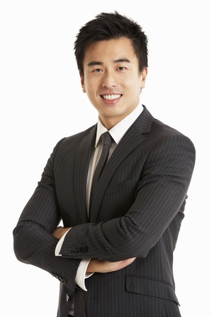 chinese people: Studio Portrait Of Chinese Businessman