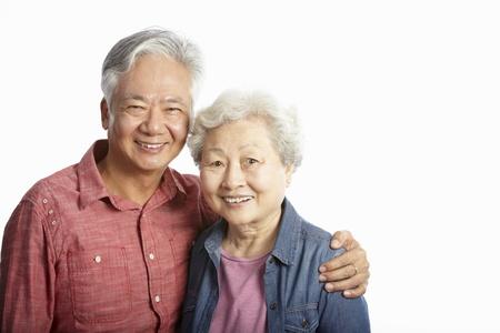 senior couple: Studio Shot Of Chinese Senior Couple