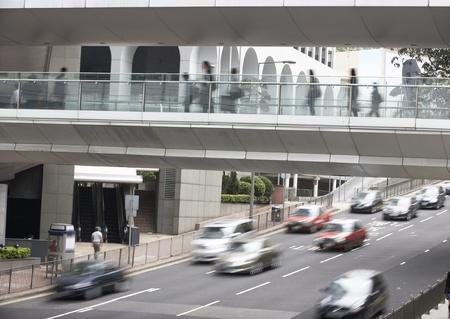incidental people: Traffic Along Busy Hong Kong Street