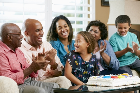 5 10 year old girl: Multi Generation Family Celebrating Daughters Birthday