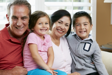 Portrait Of Grandparents With Grandchildren Stock Photo - 18735786
