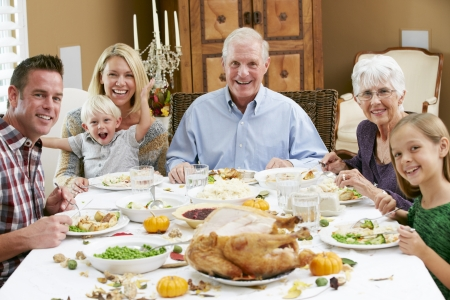 18 to 30s: Multi Generation Family Celebrating Thanksgiving