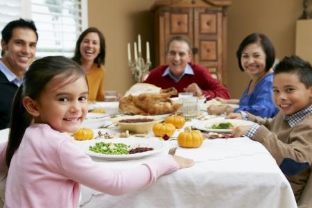 Generación de la familia multi Celebración de Acción de Gracias