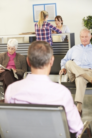 Patients In Doctor's Waiting Room photo