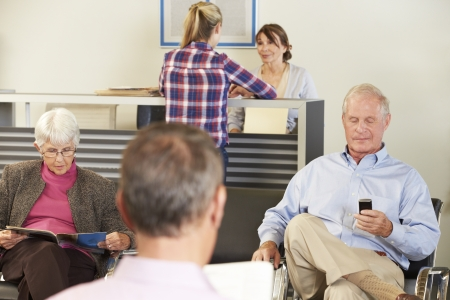 waiting room: Patients In Doctors Waiting Room