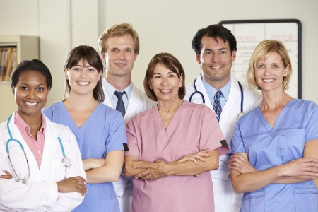 multi racial group: Portrait Of Medical team