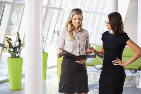 Two Businesswomen Having Informal Meeting In Modern Office Stock Photo - 18726403