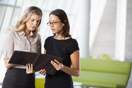 Two Businesswomen Having Informal Meeting In Modern Office Stock Photo - 18736560