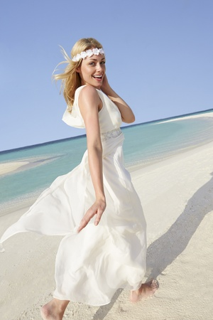 Bride At Beautiful Beach Wedding photo