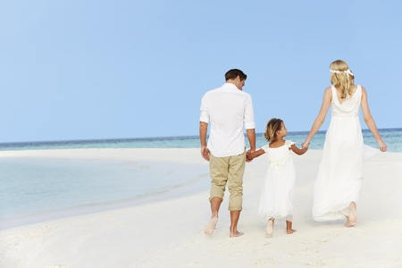 Family At Beautiful Beach Wedding photo