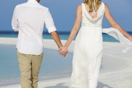 Couple At Beautiful Beach Wedding photo