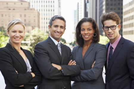 Portrait Of Four Business Colleagues Outside Office photo