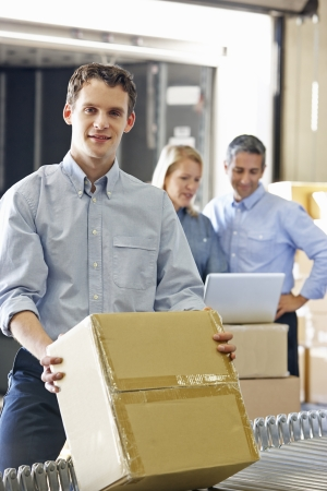small business: Workers In Distribution Warehouse