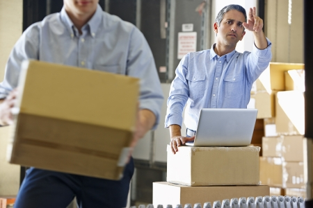 warehouse: Workers In Distribution Warehouse
