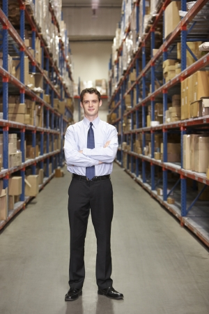 small business: Portrait Of Manager In Warehouse