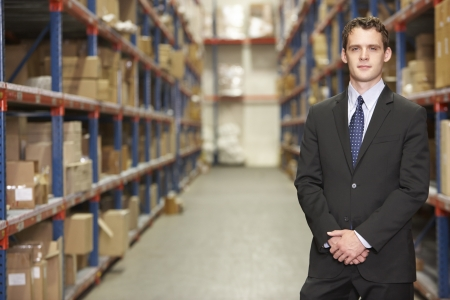 Portrait Of Manager In Warehouse photo