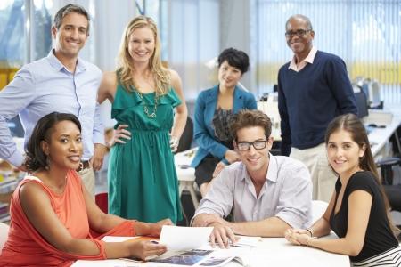 people meeting: Portrait Of Team In Creative Office