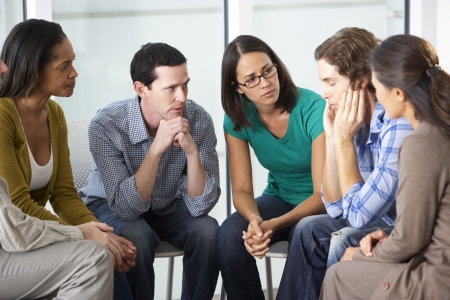 サポート グループのミーティング 写真素材