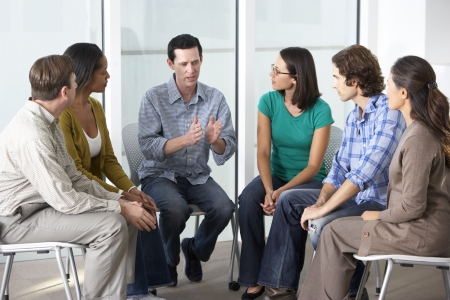 listening to people: Meeting Of Support Group