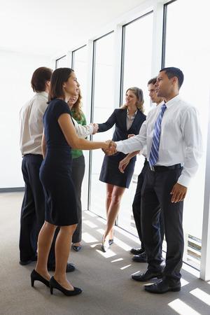 Business Team Having Informal Meeting In Office Stock Photo - 24488259