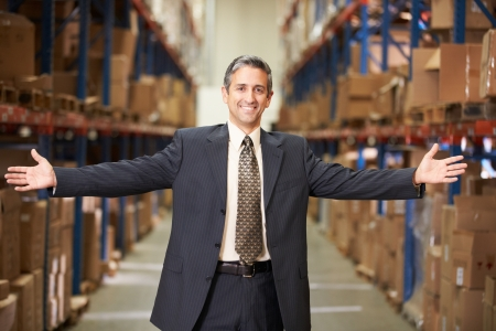 loading bay: Portrait Of Manager In Warehouse