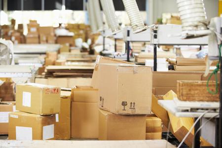 empty warehouse: Empty Interior Of Distribution Warehouse