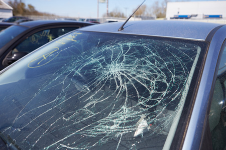car wreck: Damage To Car Involved In Accident