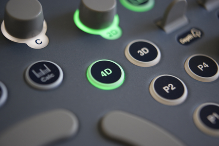 Close Up Of Controls On 4D Ultrasound Machine photo