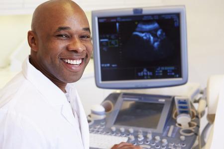 Portrait Of 4D Ultrasound Scanning Machine Operator photo