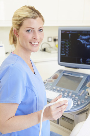 Portrait Of 4D Ultrasound Scanning Machine Operator photo