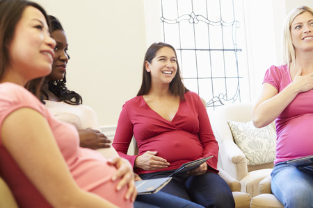Pregnant Women Meeting At Ante Natal Class photo